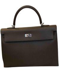 Hermès Borsa Kelly 32 in Pelle - Grigio