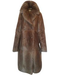 Sandro Rabbit Coat - Brown