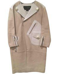 Louis Vuitton Leather Coat - Natural