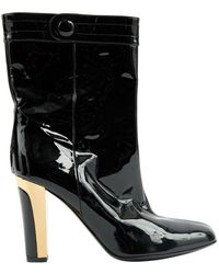 Barbara Bui Black Patent Leather Boots