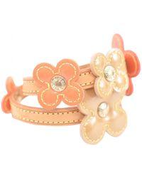 Louis Vuitton - Vintage Orange Patent Leather Bracelets - Lyst