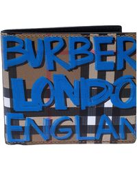 Burberry Leder Kleinlederwaren - Blau