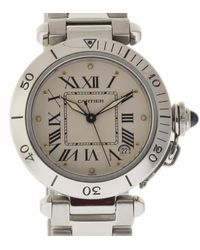 Cartier Pasha White Steel Watch