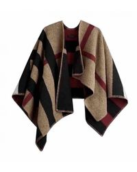 Burberry Wolle Poncho - Natur
