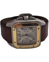 Cartier Santos 100 Xl Chronographe Watch - Metallic