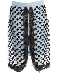 Sonia Rykiel - Blue Silk Skirt - Lyst