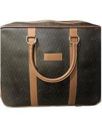 Dior Vintage Beige Cloth Travel Bag - Natural