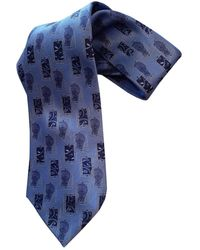 Lanvin Cravatta in Seta - Blu