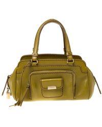 Tod's Green Leather Handbag