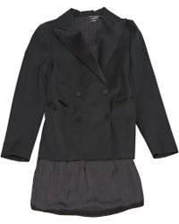 Lanvin - Black Polyester Dress - Lyst