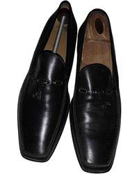 Louis Vuitton Mocasines en cuero negro