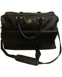 Tory Burch Leather 24h Bag - Black