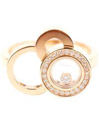 Chopard Happy Diamonds Gelbgold Ringe - Mettallic