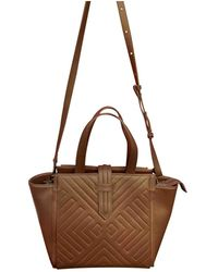 Christian Lacroix Burgundy Leather Handbag - Brown