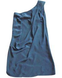 Maje - Black Silk Dress - Lyst