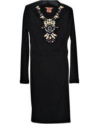 Tory Burch - Black Silk Dress - Lyst