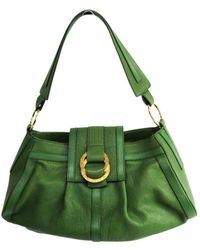BVLGARI - Green Leather Handbag - Lyst