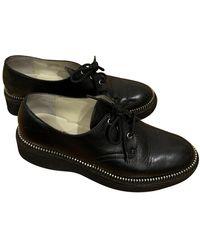 Michael Kors Leather Lace Ups - Black