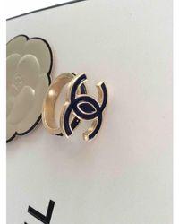 Chanel Cc Gold Metal Ring - Metallic