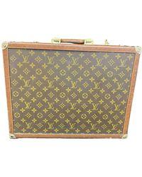 Louis Vuitton Cloth Travel Bag - Brown