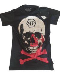 Philipp Plein Black Cotton T-shirt