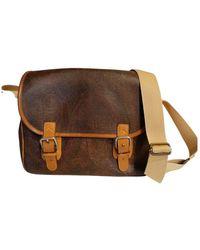 Etro Cloth Satchel - Brown