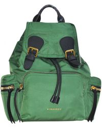 Burberry - Pre-owned Cloth Backpack - Lyst