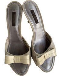 Louis Vuitton Patent Leather Sandals - Natural