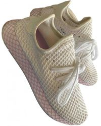 adidas Deerupt Runner Leinen Sneakers - Weiß