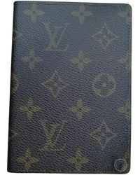 Louis Vuitton Brown Cloth Small Bag Wallets & Cases
