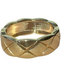 Chanel Coco Crush Yellow Gold Ring - Metallic