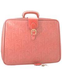 Dior Leather Travel Bag - Pink