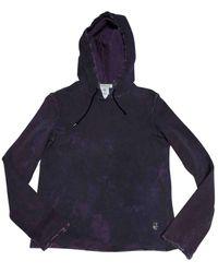 Balmain Pullover Baumwolle Lila