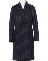 Stella McCartney - Pre-owned Navy Wool Coats - Lyst