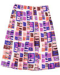Emilio Pucci Falda en seda violeta - Multicolor