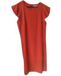 Claudie Pierlot Robe en Polyester Rouge