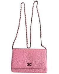 Chanel Pochette Wallet on Chain in Pelle - Rosa