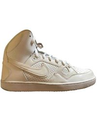 Nike Niike Air Force 1 Pe (gs) Basketball Shoes in Pink for