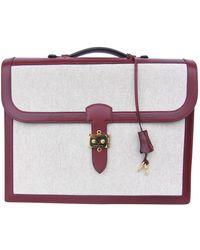 Hermès Beige Cloth Handbag - Natural