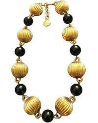 Lanvin Gold Metal Necklace - Metallic