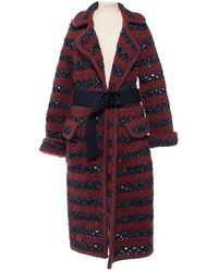 Chanel Wolle Mäntel - Rot
