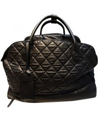 Chanel Leather Travel Bag - Black