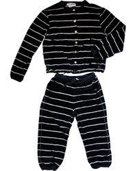 Sonia Rykiel Black Cotton Jumpsuits