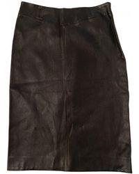 JOSEPH Leather Mid-length Skirt - Black