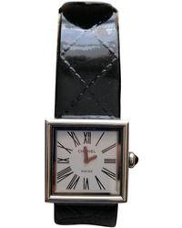 Chanel Reloj en acero negro Matelassée