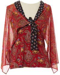 Dior - Camisa en algodón rojo - Lyst