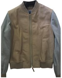 Louis Vuitton Leather Jacket - Natural