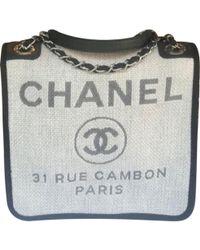 Chanel - Deauville Other Cotton Handbag - Lyst