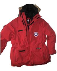 Canada Goose Expedition Coyote Fur-trim Down Parka - Red