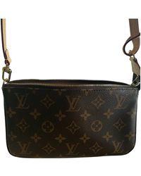 Louis Vuitton Pochette Accessoire Cloth Clutch Bag - Brown